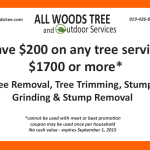 save $200 on any tree service $1700 or more